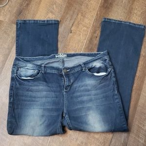 Reign jeans distressed fading